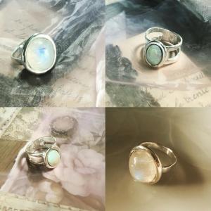 淡い色石のリング2点&オーダーブレスレット