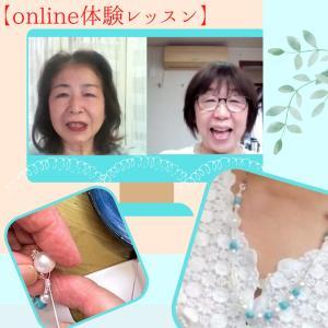 on-lineレッスン《ビーズボールネックレス》第1段のご紹介(^^♪