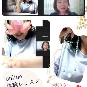 on-lineレッスン《ビーズボールネックレス》第3段・4段のご紹介(^^♪