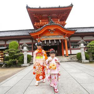 《七五三|伊佐爾波神社》着物のシミは意外と写りません♡