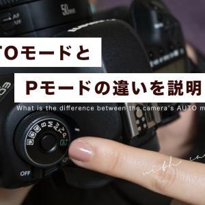 一眼レフカメラ・ミラーレスカメラのAUTOとPモードの違いって何?【YouTube】
