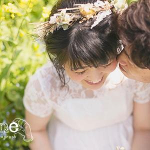 《愛媛前撮り》晴天の菜の花畑で結婚式前撮り撮影