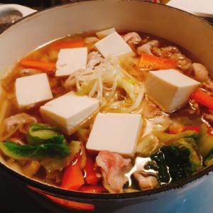 12月3日の晩ごはんぽかぽか生姜鍋