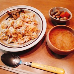 12月5日の晩ごはん 包丁いらずのじゃこ卵炒飯