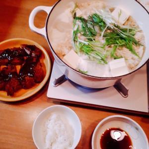 半額お惣菜とんかつと野菜鍋