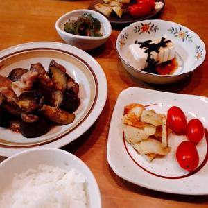 豚バラ茄子の甘辛炒めと、久しぶりのお弁当