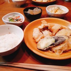 いただきもの食材で天ぷら 鱧・さつま芋・茄子