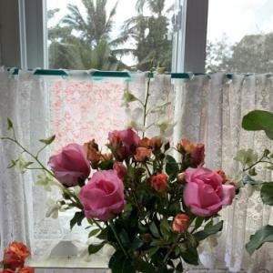 休日の朝目が覚めたら、花束が置いてありました〜