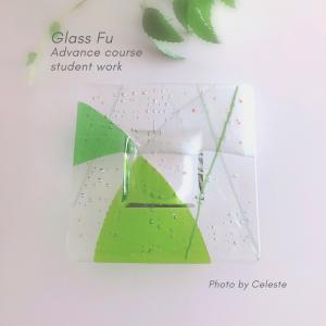 ガラスフュージングアドバンスコース 課題作品「水盤」
