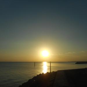 海沿いの夕暮れジョグ♪
