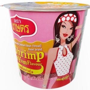 No.6521 KASET (Thailand) Instant Bean Vermicelli Shrimp Tom Yum