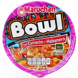 No.6563 Maruchan Bowl (USA) Con Camarón y Habanero