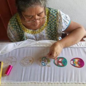 メキシコのプロレス手刺繍