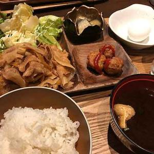 リーマンランチ定番の豚生姜焼き定食!