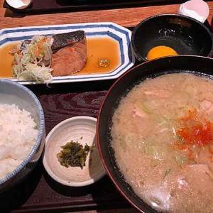 葱屋平吉の鰆の煮付けと豚汁定食!