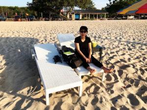 年末年始マレーシア旅行2019-2020その6@タンジュンルーの公共ビーチで夕陽を眺める