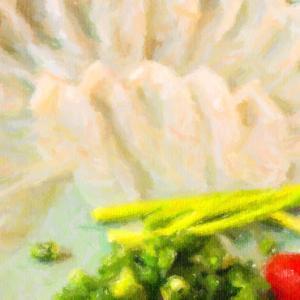 九州法事旅行2020夏その3@下関のふく料理専門店で河豚刺しを食べる