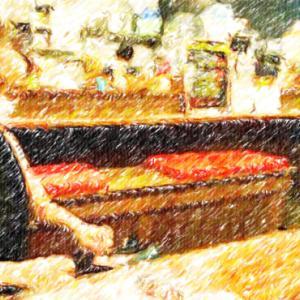 土浦市の肉力でお肉料理を召し上がる奥様@夏バテ防止