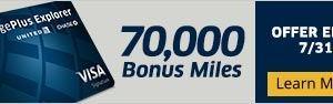 United MileagePlus Explorer Cardで75,000マイルもらってみた