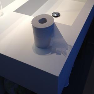 全面ガラス洗面所の寒さ対策