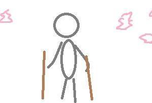 桜見たんだが、杖で歩く老人ばかり多い。