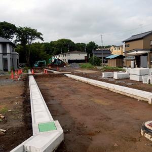 工事が中断したままの開発地