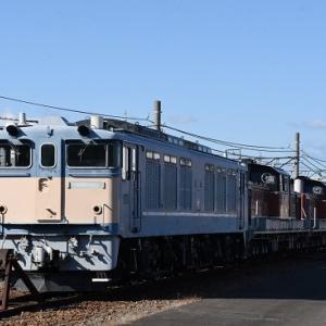 稲沢にて 解体前のEF64-77号機とDD51