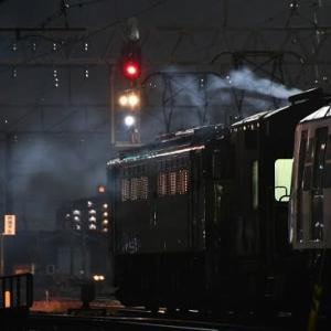 11月15日撮影 稲沢にて都営大江戸線 甲種輸送をバルブ撮影