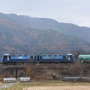 本日の撮影 中央東線貨物2080レとキハ110回送
