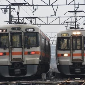 2月16日撮影 飯田線にて撮影 その2 313系と313系代走の並びより