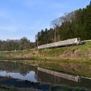 本日の撮影 飯田線は始発で水鏡狙いより