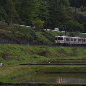 5月10日撮影 雨が降る飯田線にて