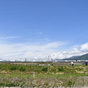 本日の撮影 中央東線はみどり湖にてE353系「あずさ」より その1