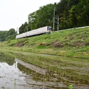 5月17日撮影 飯田線は始発から水鏡狙いより その1