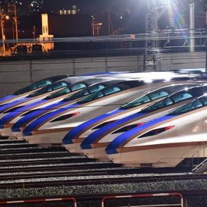 8月10日撮影 長野新幹線車両センターにてバルブ撮影より