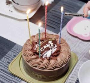 先日のラインメールの「にゃん吉」君の誕生日パーティー