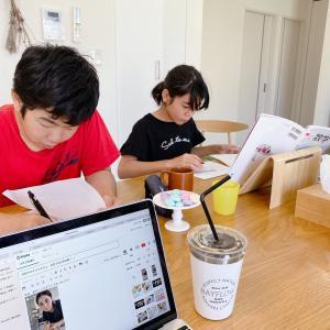 休校中の子どもたちと、自宅でお仕事モード体験?!自粛中の働き方♡
