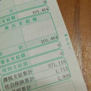 令和2年6月のお給料を頂きましたわ。