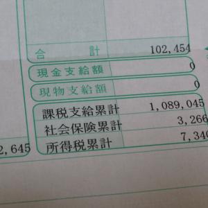 令和2年11月度のお給料を頂きましたわ。