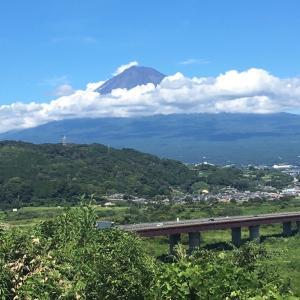 実家に帰る途中で見た富士山
