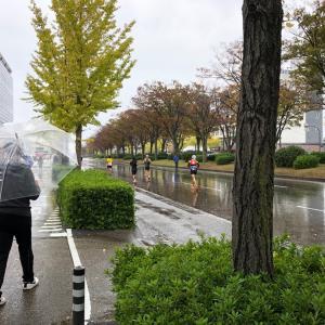 雨の金沢マラソン
