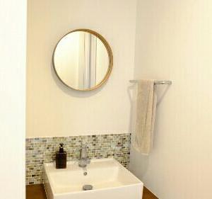 ずっと変わらない、洗面所のシンプルなインテリア