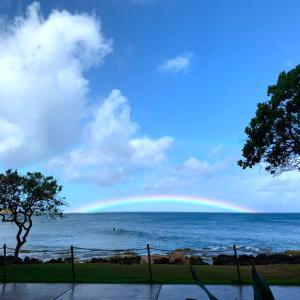 ハワイの低い虹