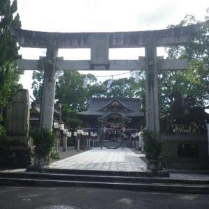 ☆茅の輪そして絵灯籠・本渡諏訪神社