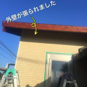 外壁工事と軒下張り
