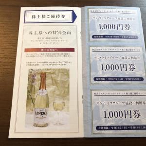 【人気優待】サン・ライフホールディング(7040)より株主優待券到着2021年6月