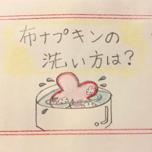 イラストで解説『布ナプキンの洗い方』