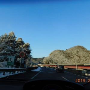 冬季の富士五湖から見る富士