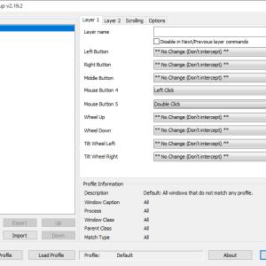 無料マウス拡張ユーティリティソフト「X-Mouse Button Control 」で左サイドボタンを変更できた。
