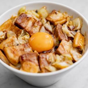 豆鼓回鍋肉丼のレシピ